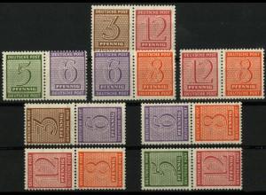 SBZ, WZd. 13 - SZd. 6, kpl. Satz postfrisch und ungeknickt, Mi. 120,- (9447)