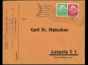 Dt. Reich, Straßenbahnpost 1934, portogerechter Geschäfts-Brief (9457)