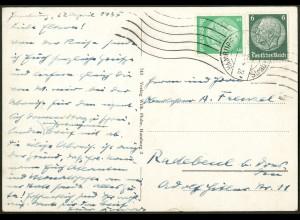 Dt. Reich, Straßenbahnpost 1935, portogerechte Ansichtskarte (9458)