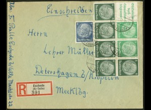 Dt. Reich, HBl. 99 auf R-Brief (9467)