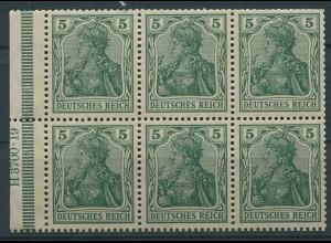 Dt. Reich, HBl. 2 II a A HAN 6.1 (3700.19), postfrisch, Mi. 100,- (9542)