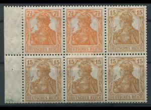 Dt. Reich, HBl. 12 aa A 0, seltene Farbe, ungebr., gepr. BPP, Mi. 900,- (9600)