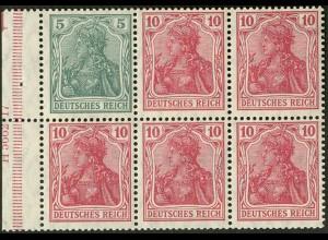 """Dt. Reich, HBl. 18 ac A HAN 3.2 + Bogenziffer """"1"""", postfrisch, FA BPP (9665)"""