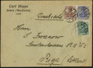 Dt. Reich, W 14, portogerechter Auslands-Drucksache, Mi. 45,- ++ (9687)