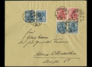 Dt. Reich, K 2 + S 21 (2, portogerecht, gepr. Infla, Mi. 90,- (9688)