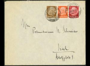 Dt. Reich, W 46, auf Fern-Brief, Mi.-Handbuch 70,- (9713)