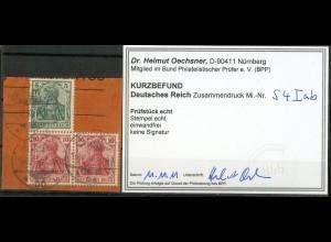 Dt. Reich, S 4 I ab, Briefstück, Befund BPP, Mi.-Handbuch 80,- (9782)