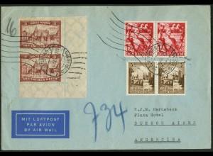 Dt. Reich, Straßenbahnpost 1938, portogerecht (6,30 RM), Ausl.-Lp-Brief (9785)