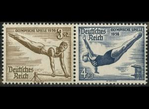 Dt. Reich, Bl W 10, Block-Zd. postfrisch, ungeknickt, Mi.-Handbuch 25,- (9791)