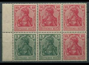 Dt. Reich, HBl. 27 aa A 1.1, postfrisch, farbgeprüft BPP, Mi. 100,- (9896)