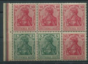Dt. Reich, HBl. 27 aa B 3.1, postfr., farbgepr. BPP, Mi. 110,- + 100 % (9913)