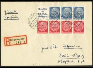 Dt. Reich, HBl. 89, Einzelfrankatur R-Brief eigenhändig, Mi. Brief 100,-(10266)