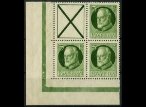 Bayern, Zd. S 17 A oder W 5 A, postfrisches Eckrandstück, Mi. 30,- ++ (10329)