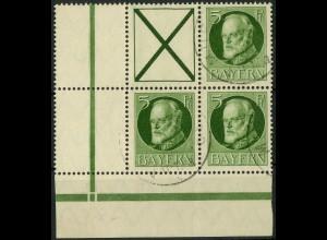 Bayern, Zd. S 17 A oder W 5 A, gestempeltes Eckrandstück, Mi. 45,- ++ (10331)