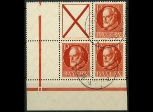 Bayern, Zd. S 21 A oder W 6 A, gestempeltes Eckrandstück, Mi. 45,- ++ (10333)