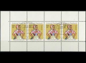 DDR, HBl. 12 E, gestempeltes Heftchenblatt, Mi. 30,- (10356)