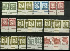 Bund, 14 versch. postfrische Zd. mit HAN aus MH 7-11, Mi. 155,- (10381)