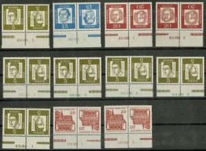 Bund, 11 versch. postfrische Zd. mit HAN aus MH 8-11, Mi. 94,- (10382)