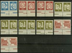 Bund, 9 versch. postfrische Zd. mit HAN aus MH 8-11, Mi. 76,- (10383)