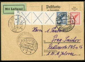Dt. Reich, RL 15.2 selt. StrL, portoger. Lp-Karte, Sondertarif, Mi. 500,-(10465)