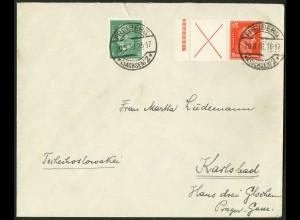 Dt. Reich, W 23 LR 2, portoger. Ausl. (Sondertarif), Mi. 460,- (10475)