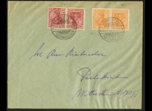 Dt. Reich, K 1 + K 3, portogerechter Orts-Brief, gepr., Mi. 42,- (10488)