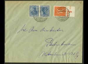 Dt. Reich, K 2, portogerechter Orts-Brief, Mi. 50,- (10490)