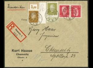 Dt. Reich, K 14, auf Orts-R-Brief, Mi.-Handbuch 60,-, gest. 50,- (10525)