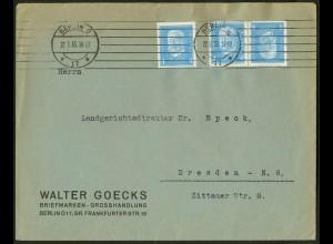 Dt. Reich, K 9, portogerechter Fern-Brief, Mi. 100,- (10531)