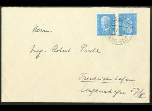 Dt. Reich, K 9, portoger. Einzelfrankatur, Orts-Brief, Mi.-Handbuch 180,-(10532)