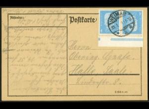Dt. Reich, K 9 OR, Einzelfrankatur, Mi.-Handbuch 65,-, gestempelt 60,- (10535)