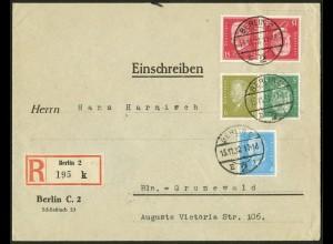 Dt. Reich, K 14 + K 11, portogerecht auf Orts-R-Brief, Mi. 170,- (10543)