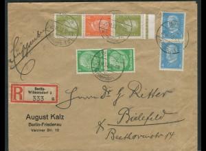 Dt. Reich, S 47 OR 2, portogerecht auf R-Brief, Mi. 420,- (10602)