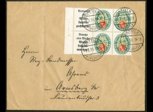 Dt. Reich, W 34 LR + W 35 LR, Fern-Brief, Mi.-Handbuch 130,-, gest. 120,-(10642)
