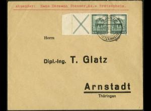 Dt. Reich, W 39 LR 2, Fern-Brief, Mi.-Handbuch 130,- (10695)