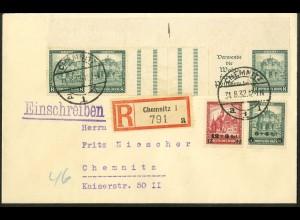 Dt. Reich, WZ 7 OR 1, portogerechter Orts-R-Brief, Mi. 1700,- (10699)