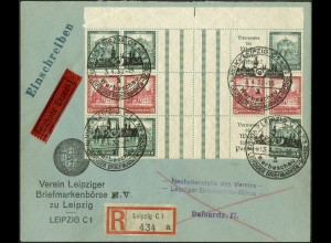 Dt. Reich, WZ 7 OR 1 + 3 Zd., Orts-Eil-R-Bf., Mi.-Handbuch 2400,- (10700)