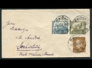 Dt. Reich, W 43 Rand, auf Fern-Brief, Mi. MiF 40,- (10726)