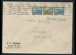 Dt. Reich, W 44 Rand, Einzelfrankatur auf Fern-Brief, Mi. MiF 50,- (10728)