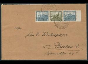 Dt. Reich, W 44 Rand, Einzelfrankatur auf Fern-Brief, Mi. MiF 50,- (10729)