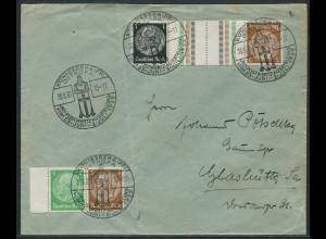 Dt. Reich, KZ 20 + W 60, portogerechter Fern-Brief, Mi. 60,- (10732)
