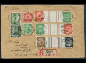 Dt. Reich, KZ 21.1 (2), KZ 20, S 121, portoger. R-Brief, Mi. 110,- (10740)