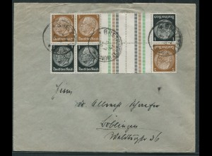 Dt. Reich, KZ 20 (2), S 117, portogerechter Fern-Brief, Mi. 80,- (10743)
