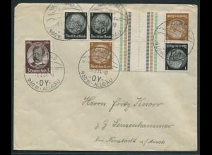 Dt. Reich, KZ 20 (2), portogerechter Fern-Brief, Mi. 60,- (10744)