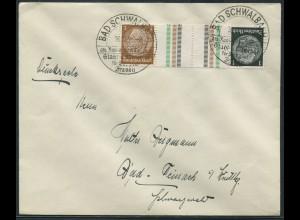 Dt. Reich, KZ 20, portogerechte Einzelfrankatur, Mi.-Handbuch 60,- (10748)