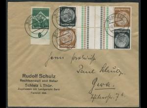 Dt. Reich, KZ 20 (2), auf Fern-Brief, Mi.-Handbuch 45,- (10752)