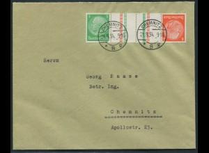 Dt. Reich, KZ 21.1, Einzelfrankatur auf Orts-Brief, Mi.-Handbuch 30,- (10763)