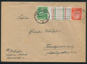 Dt. Reich, KZ 21.1, Einzelfrankatur, Mi.-Handbuch 30,-, gest. 25,- (10764)
