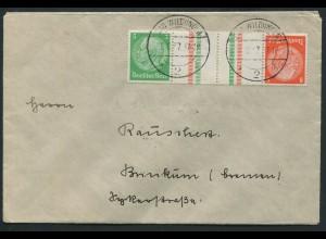 Dt. Reich, KZ 21.1, Einzelfrankatur, Mi.-Handbuch 30,-, gest. 25,- (10771)