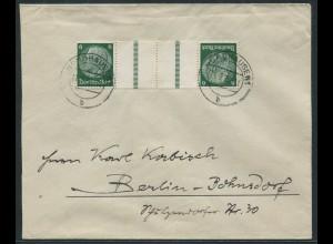 Dt. Reich, KZ 22.1, portogerechte Einzelfrankatur, Mi.-Handbuch 50,- (10791)